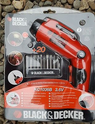 Black & Decker 3 Position Cordless Reversible Screwdriver 3.6v | BNIB