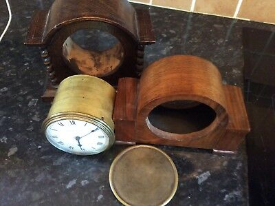 Mantel Clock Movement, Wooden Case
