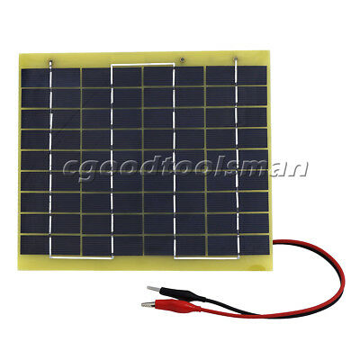 ECO-WORTHY 10W Solar Panel 10 Watt 12V Garden Battery Charge & 1 Meter Cable