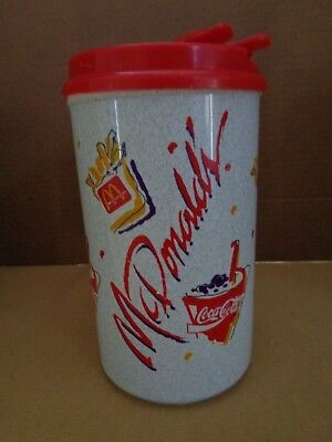 Vintage 90's McDonald's Coca Cola 32oz Thermo Travel Mug/Cup by Whirley