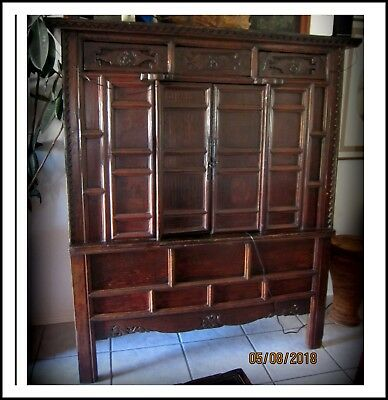 Antique Chinese Large Two Door Cabinet