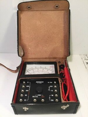 VTG Sanwa Armaco P-3RT Analog Multimeter NOS With Leather Case