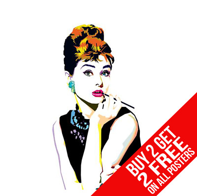 Audrey Hepburn Poster Breakfast At Tiffanys A4 A3 Size - Buy 2 Get Any 2 Free