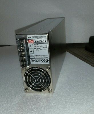 Used Mean Well SP-750-24 Switching Power Supply 24V 31.3A 750W Active PFC Funct.