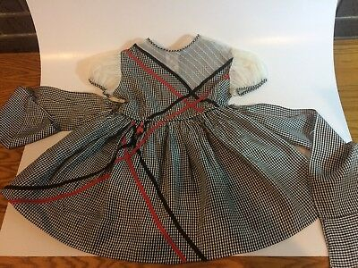 Vintage Baby Toddler Girls Dress Black and white Super Frilly Fancy