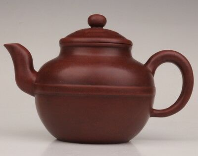 China yixing red clay teapot kettle unique pattern large bottom seal
