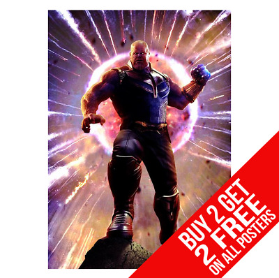 Thanos Poster Marvel Avengers Infinity War A4 A3 Size - Buy 2 Get Any 2 Free