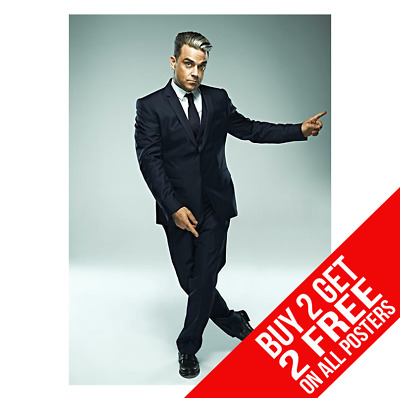 Robbie Williams Poster Wall Art Photo Print A4 A3 Size - Buy 2 Get Any 2 Free