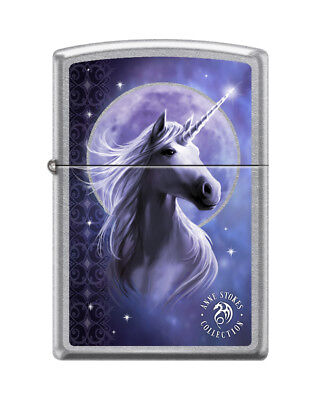 Zippo 7691, Anne Stokes-Woman With Moon, Street Chrome Finish Lighter