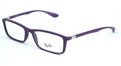 Authentic Ray Ban Eyeglasses RB7048F 5443 Rubber Purple 56MM Rx-ABLE
