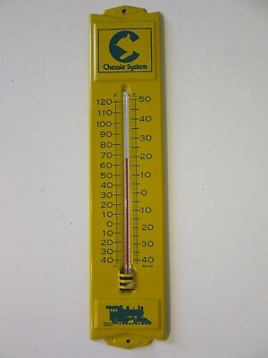 Merit - Vintage Chessie Railroad Systems Advertising Thermometer