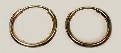 Quality USA Made 14ktGF 12mm Endless Hoop Ancient Egypt Sumerians Minoans Celts