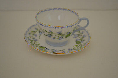Shelley Harebell Teacup With Saucer Gold Trim Henley