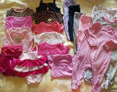 Summer outfits Girl 6-9 months Clothes Lot Adorable Spring/Summer 19 pcs  #52
