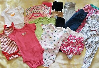 Summer outfits Girl 6-9 months Clothes Lot Adorable Spring/Summer 17 pcs  #53