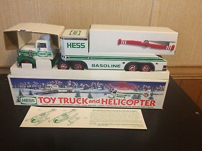 1995 Hess Toy Truck And Helicopter Mint Condition And Working