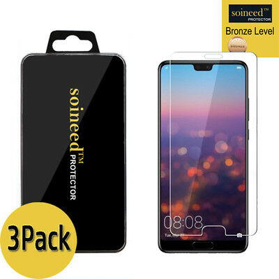 """[3-Pack] SOINEED Tempered Glass Screen Protector Saver For """" Huawei P20 Pro """""""