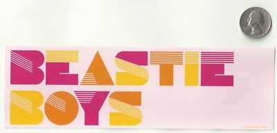 BEASTIE BOYS new Sticker/Decal rock rap hip-hop band bumper car
