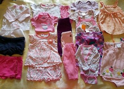 Summer outfits Girl 0-3 months Clothes Lot Adorable Spring/Summer  21 pcs  #56