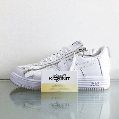 check out 8d730 2b573 ACRONYM x NIKE LUNAR AIR FORCE 1 - WHITE - AJ6247 100 - SIZE 8.5 -