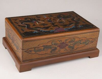 China lacquerware jewelry box dowry qing dynasty sacred imperial cixi shuanglong