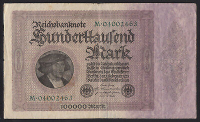 1923 Germany 100000 Mark Rare Old Vintage Antique Banknote Paper Money Currency