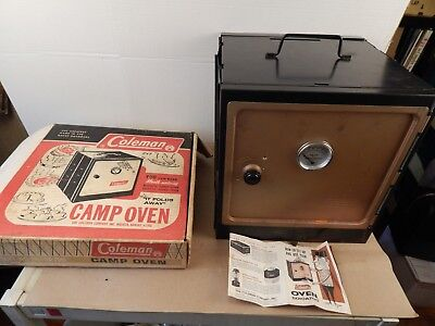 COLEMAN Folding CAMP OVEN in original box w/instructions 1970 excellent