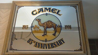 Camel Cigarettes 85th Anniversary Mirror 1913 - 1998 Framed Great Condition