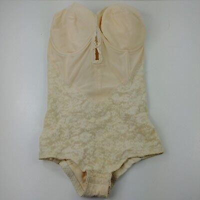 lc Vintage Pinup Montgomery Ward Full Body Corset Lace Size 36C D? Strapless #2