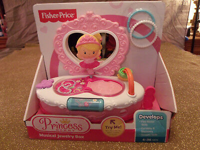 Rare, Retired , Fisher Price Princess Mommy Musical Jewelry Box; New in Box