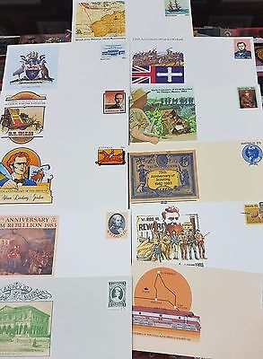 Stamps And Envelopes Of Australian Historical & Centenaries Lot Of 11