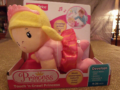 Rare, Retired , Fisher Price Princess Mommy Touch' N Crawl Princess; New in Box