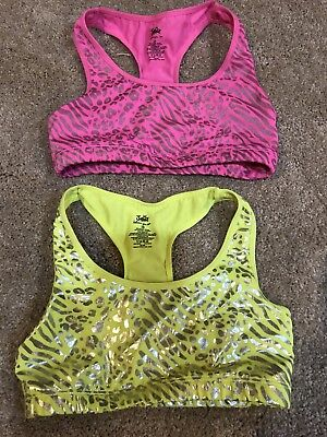 Justice Sports Racerback Dance Neon Pink/Yellow Size 28