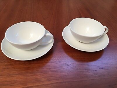 Villeroy And Boch Tea/Coffee Cup And Saucers, Two Fine China Metropolitan