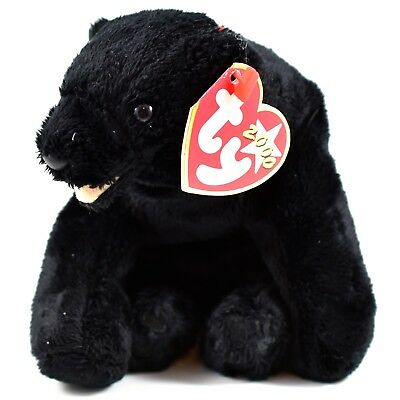 2000 TY Beanie Baby Cinders Black Bear Cub Retired Beanbag Plush Doll