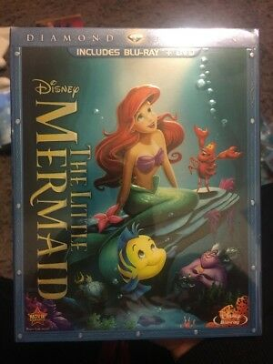 The Little Mermaid Blu-ray/DVD, 2013, 2-Disc Set, Diamond Edition w/Slipcover