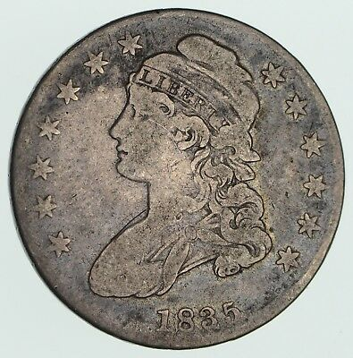1835 Capped Bust Half Dollar - Circulated *3578