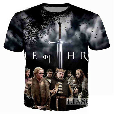 Women/Men Game of Thrones Character 3D Print Casual T-Shirt Tee Short Sleeve T91