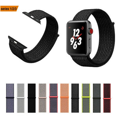Nylon Woven Sport Loop Bracelet Watch Band Strap For Apple Watch 38/42/40/44mm