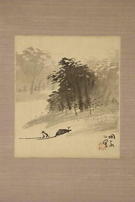 JAPANESE HANGING SCROLL ART Painting Scenery Asian antique  #E2513