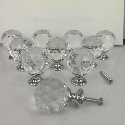 NEW Zinc Alloy Spherical Crystal Sparkle Cabinet Drawer Door Pulls Knobs Handle