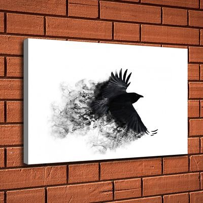 Crow Wings Black Bird Painting HD Print Canvas Home Decor Room Wall Art Picture