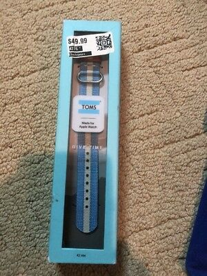 New Toms Apple Watch Band Blue And White 42 Mm