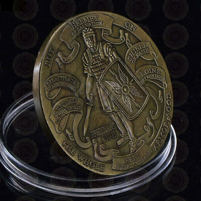 Helmet Of Salvation Put On The Whole Armor Of God Ephesians Commemorative Coin!