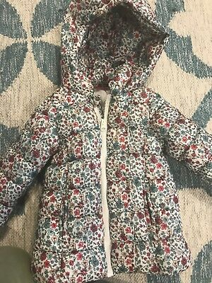 Baby girls Puffer Jacket  Size 1. Floral design. Sprout.