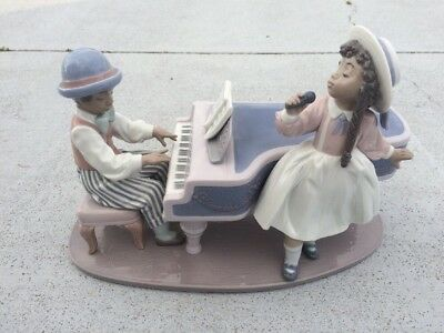 LLADRO #5930 Figure Black Legacy Collection Jazz Duo Made in Spain, No Box, GUC