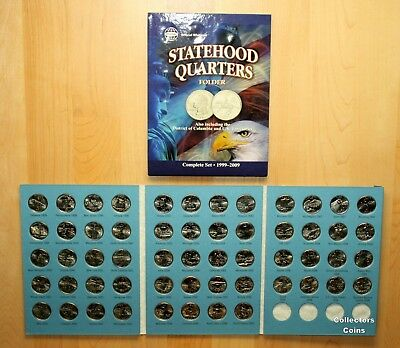1999-2009 Complete 56 State & Territory Quarter P OR D Uncirculated Set wFolder