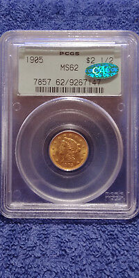 """1905 Liberty $2.50 PCGS Certified MS62 CAC Graded US Mint State Gold Coin """"OGH"""""""