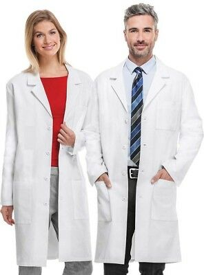 Unisex Long Medical Lab Coats White XS S M L XL 2XL 3X 4X Men Women Lab Coat Vet