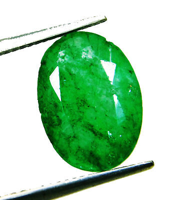Natural 5.20 Ct Oval Cut Colombian Loose Emerald Gemstone. 6268 GH